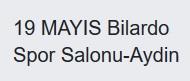 19 MAYIS BİLARDO SPOR SALONU
